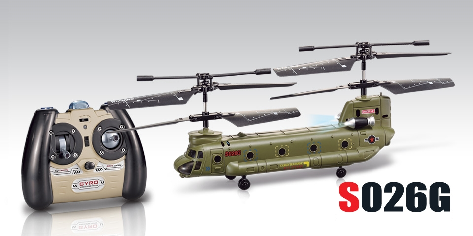 Syma S026G Puldiga Juhitav Helikopter
