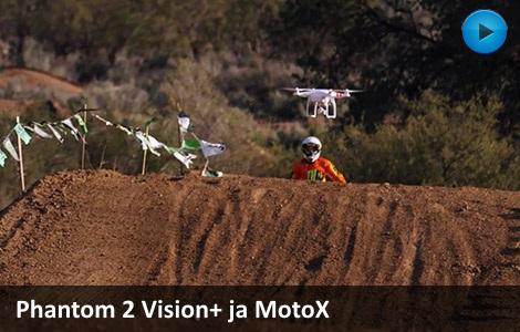DJI Phantom Vision+ ja MotoX